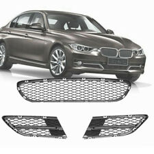 3PCS Front Lower Bumper Grille Grill Kit FOR BMW 3 Series E90 E91 325i 328i 335i