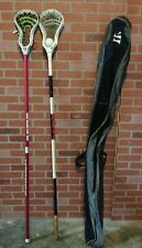 """x2 Maverik Lacrosse Sticks (each 70"""" length) with Carrying Case and Ball"""