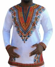 African Long Sleeve Dresses Dashiki Men's T-Shirt Tribal tee Men's Tops Casual