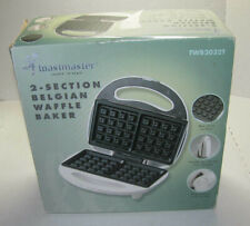 Toastmaster Belgian Waffle Baker Twb2032T New In Box! White 2 Section Grill New