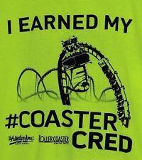 I Earned My Coaster Cred Las Vegas Circus Circus Adventuredome Yellow T Shirt L