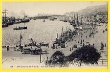 Belle cpa 62 - BOULOGNE sur MER Le PORT Attelage HARREWYN Frères Bateaux Pêche