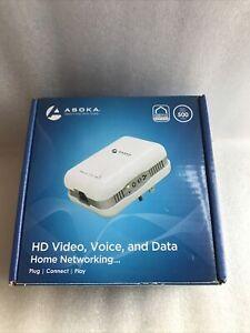 🔥 NEW Asoka PlugLink ETH-500 Mbps HomePlug Powerline Ethernet Adapter