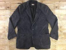 Camel Active Blazer Jacket 44R (Eur 52) Washed Black Denim Herringbone Dual Vent