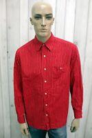 LACOSTE Taglia L Camicia Uomo 42 Cotone Shirt Chemise Casual Manica Lunga