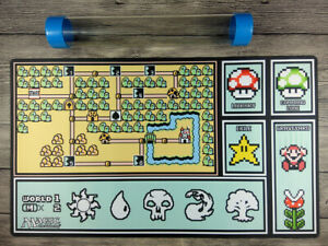 Magic the Gathering Super Mario Brothers inspired Custom Playmat Free Best tube