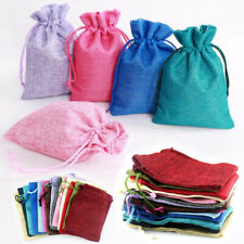 Natural Linen Pouch Drawstring Bags Small Bag Burlap Jute Sack Jewelry Gift Bags