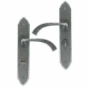 ANVIL 33636 PEWTER GOTHIC CURVED LEVER BATHROOM SET TRADITIONAL PERIOD (ATC)