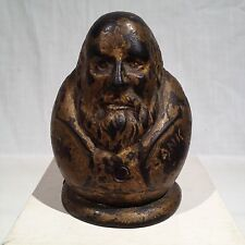1870's TAMMANY TIGER & BOSS TWEED CAST IRON STILL BANK, EXTREMELY RARE!!