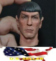 "1/6 scale Spock Head Sculpt Star Trek Leonard Nimoy fit hot toys 12"" figure❶USA❶"
