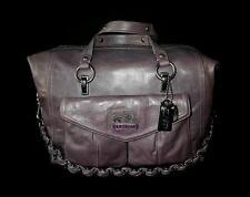 NEW COACH Limited Ed TEXTURED PURPLE LEATHER LG AUDREY TOTE BAG SHOPPER SATCHEL
