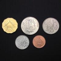 [W-2] Vanuatu Set 5 Coins, 5,10,20,50,100 Vatu, 2015, UNC