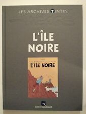 LES ARCHIVES TINTIN ** L ILE NOIRE ** NEUF   HERGE