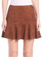 NWT Polo Ralph Lauren Snuff Suede Mini Skirt Size 10 $598