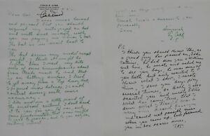 Signed 1951 Ty Cobb Letter by Bobby Doerr Boston Red Sox 2nd Baseman HOF 1986