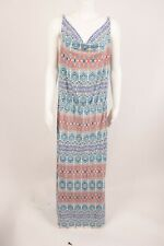 Cabi In The Sun Womens Dress Med Aztec Multicolor Drape Ikat Tribal Cruise NWT