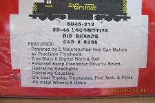 Williams SD 45-212 Locomotive Rio Grande Cab # 5335
