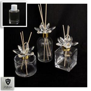 31077 Bomboniere Diffusore Profumatore Fiore cristallo Bottiglia Profumo