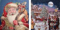 SET OF 2 CHRISTMAS THEME 42CM BELGIAN TAPESTRY CUSHION COVERS G578/580 WITH ZIP