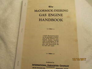 IHC McCormick Deering Gas Engine Theory, Care Instructions, Repair of Engine