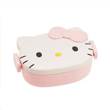 Hello Kitty Face Lunch Box Pink Ribbon 360ml