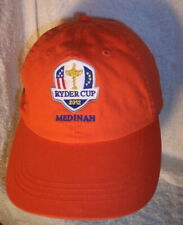 NEW Medinah Ryder Cup 2012 Orange Cotton Strap Back Golf Cap by Ahead