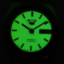 SEIKO 5 AUTOMATIC WRIST WATCH,RADIUM DIAL,GLOW IN DARK-REF 7S26-FAST SHIPPING