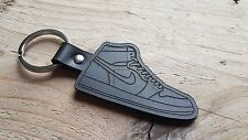 NIKE AIR JORDAN 1 LEATHER LUXURY KEYRING BLACK BRAND NEW GIFT IDEA SNEAKER HYPE