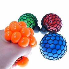 Kids'Gift Neon Mesh Squishy Ball Toy Colorful Gel Plastic Round Anti Stress 1Pcs