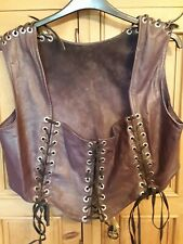 Ladies Leather Pirate Gothic Corset Waistcoat, Large size