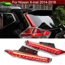 Rear Window pillar Side Cover trim LED Brake light for Nissan X-trail 2014-2018