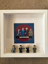 Lego picture from the Anchorman featuring Ron Burgundy, Champ, Brick and Brian