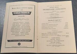 1946 Szigeti Kyla Greenbaum Piano Promenade Concert Programme Royal Albert Hall