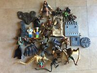 Vintage Action Figures Lot Parts Pieces Diorama Custom McFarlane DC Marvel AS-IS