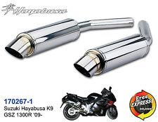 Motorrad Auspuff Edelstahl für Suzuki Hayabusa K9 GSZ 1300R '09 170267-1