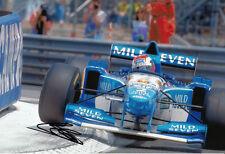 Johnny Herbert Hand Signed Mild Seven Benetton Renault Photo 12x8.
