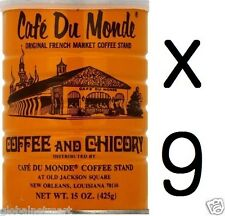 """Free Shipping"" Lots of 9 Cans Café Du Monde Coffee Chicory 15 OZ (135Oz Total)"