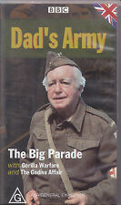 PAL VHS VIDEO TAPE : DAD'S ARMY,THE BIG PARADE, GORILLA WARFARE, GODIVA AFFAIR
