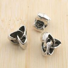 8pcs antiqued silver triangle spacer beads G1354