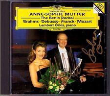 Anne-Sophie MUTTER & ORKIS Signed BERLIN RECITAL CD Debussy Mozart Franck Brahms