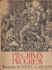 """Pilgrims Progress"" Illustrated by ROBERT LAWSON 9th Printing of FIRST EDITION"