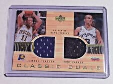 2001-02 Upper Deck Classic Duals Jersey Jamaal Tinsley Tony Parker Spurs Pacers