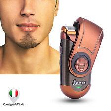 Rasoio Elettrico Portatile Uomo a Lamina Con Trimmer Ricaricabile Barba Viso