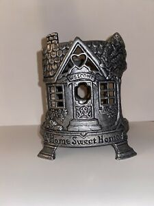 Yankee Candle Home Sweet Home Pewter Metal Large Jar Candle Holder