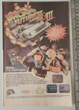 Back To The Future Ii & Iii Rare Video Game Advertisement