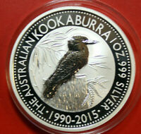 """Australien 1 Dollar 2015 Kookaburra 1 oz  #F4037 ST-BU """"25th Anniversary"""""""