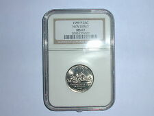 1999-P 25C New Jersey State Quarter NGC MS67