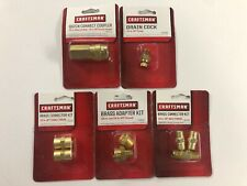 (5) Craftsman Air Tool Compressors Accessories Brass Adapter Coupler etc. NEW