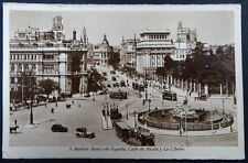ANTIGUA POSTAL MADRID LA CIBELES BANCO DE ESPAÑA Y CALLE ALCALA POSTCARD CC03569