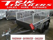 8x5 Heavy Duty  Tandem Trailer  1990kg GVM and 600mm cage